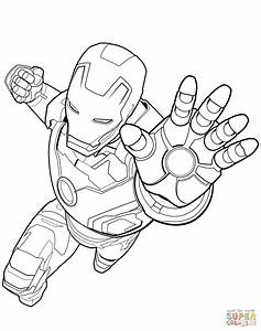Avengers Iron Man Coloring Page Free Printable Coloring