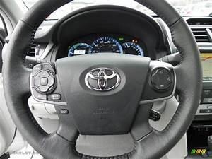 2012 Toyota Camry Hybrid Xle Ash Steering Wheel Photo