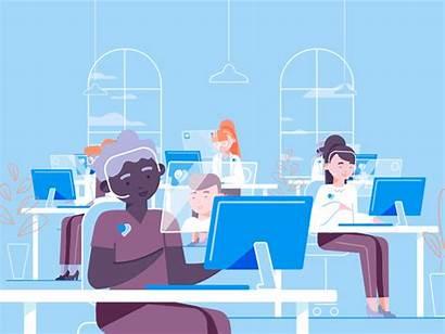 Office Doctor Call Dribbble Cyber Animation Nurse