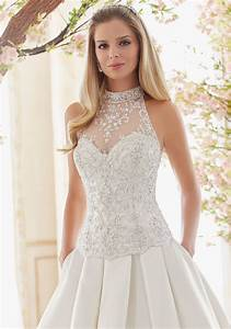 crystal beaded and embroidered wedding dress bodice With embroidered wedding dress