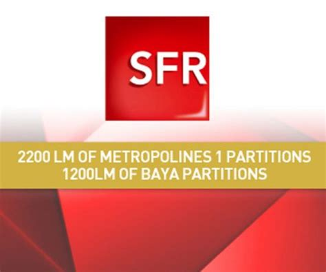 3400 lm of partitions for sfr clestra hauserman
