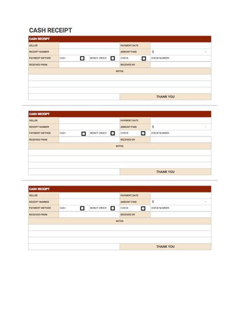cash receipt template free download from invoice simple