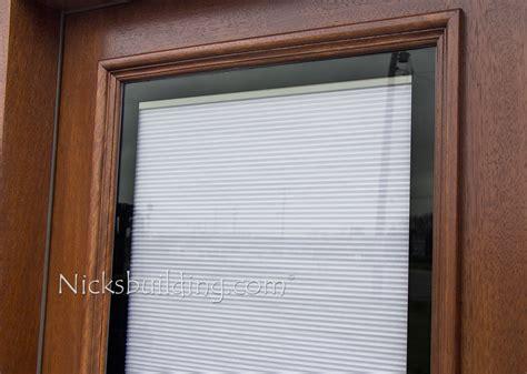 exterior door with blinds between glass blinds between glass