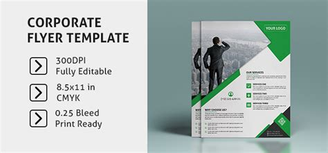 corporate flyer template psd