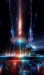 Abstract Neon Lights Galaxy Android Wallpaper free download