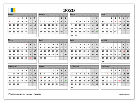 calendario canarias espana michel zbinden es