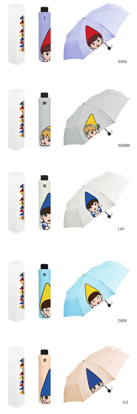 exo umbrella exo melody fairy umbrella 9kinds