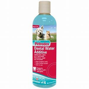 Petrodex dental water additive for dogs and cats dog for Dog dental water additive
