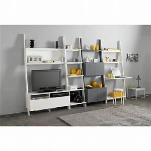 etagere echelle bureau domeno gain de place bureau et With meuble bibliotheque bureau integre 3 etagare murale bureau domeno la redoute interieurs la