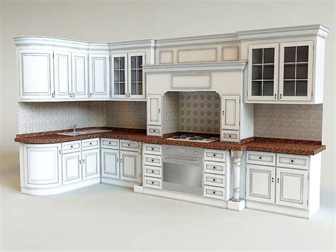 kitchen design 3d model 3d kitchen classic interior model 4381