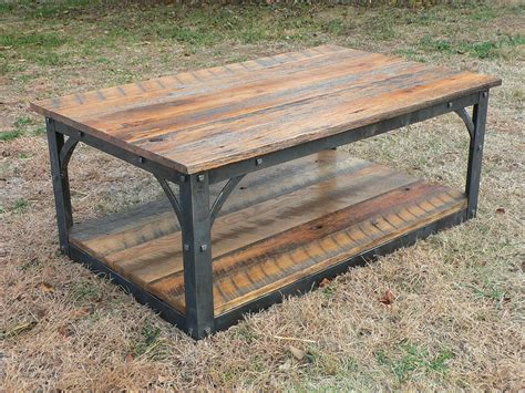 wood and iron desk hand forged iron and reclaimed barn wood coffee table