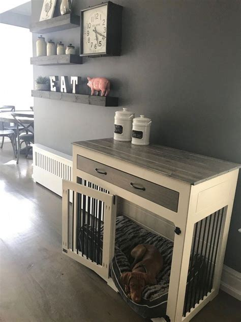 perfect indoor dog kennel   beloved dog  diy dog crate dog crate furniture dog