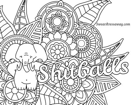 Free Printable Adult Swear Word Coloring Pages Download