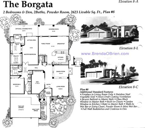saddlebrooke floor plan borgata model