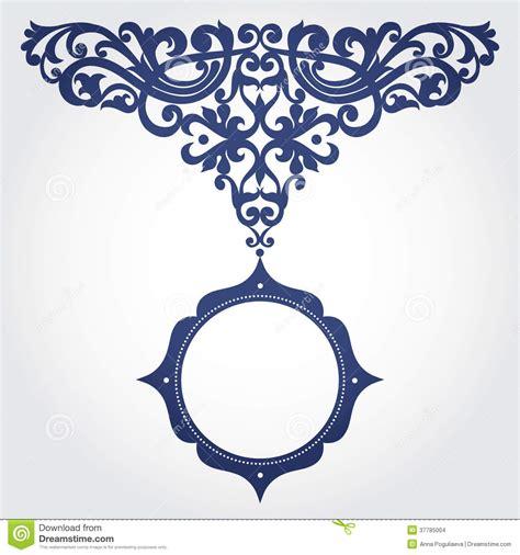 dans le cadre de cadre baroque de vecteur dans le style victorien images stock image 37785004