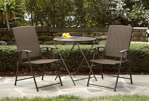 garden oasis 28in wicker folding table light option