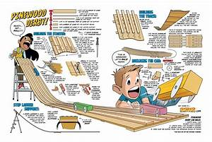 Howtoons: Build a Pinewood Derby Track at Home Make: