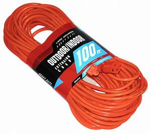 2 Pack 100ft Extension Cord Power Outdoor Heavy Duty 16