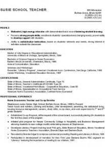 resume template free download 2017 movies home economics teacher resume exle