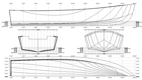 Skiff Boat Drawings by Gbr International 14 Plan For Measurement Checks At Pow