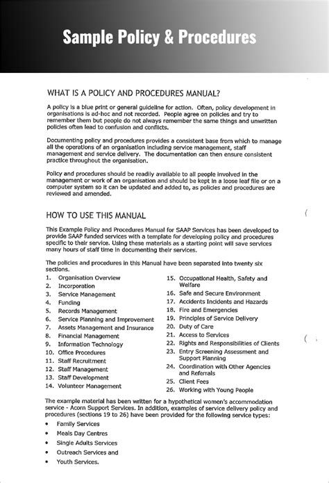 pictures how to write policies and procedures exles