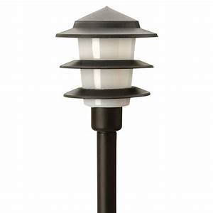 moonrays low voltage 1 watt black outdoor led 3 tier path With led outdoor lighting screwfix