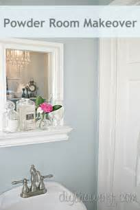 bathroom decorating ideas on a budget small powder room makeover diy show diy decorating and home improvement blogdiy show