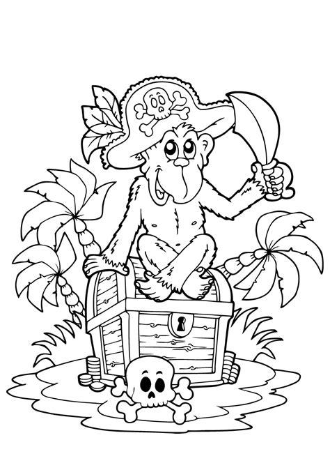 Kleurplaat Piraten Schatkaart by Piraten Kleurplaat