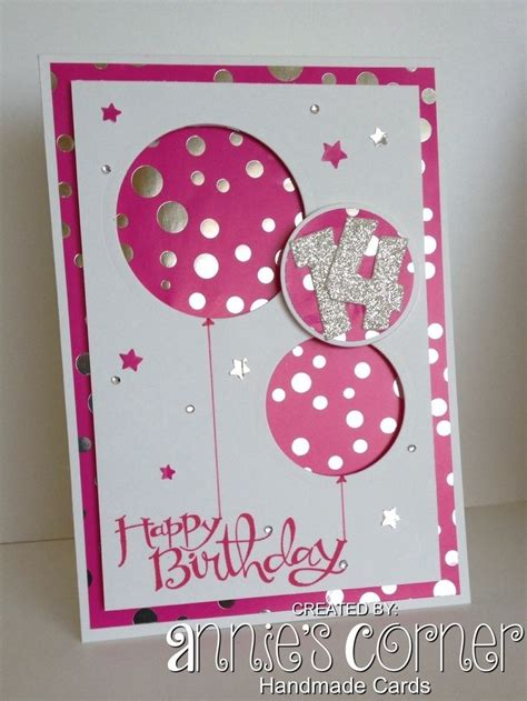 Handmade Birthday Card Designs For Teenage Girls