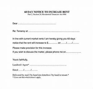 9 sample rent increase letter templates sample templates With free rent increase form letter