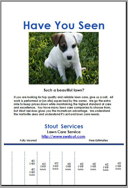 Puppy For Sale Flyer Templates by Puppy For Sale Flyer Templates I With Lost Flyer