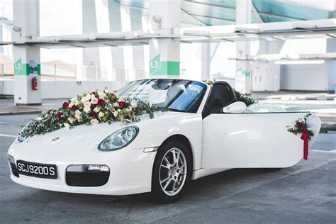 porsche boxster convertible wedding car decorations