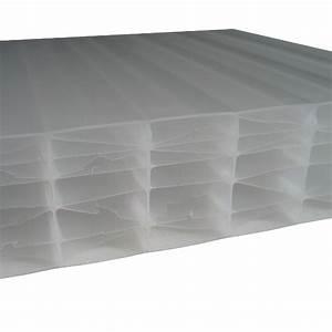 Plaque Alvéolaire Pour Toiture : plaque polycarbonate alv olaire opale 32 mm 1 25 m ~ Edinachiropracticcenter.com Idées de Décoration