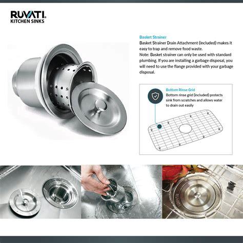 ruvati rvh undermount ledge  gauge  kitchen sink