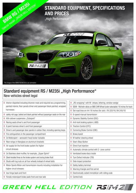Bmw Rs M235i Green Hell Edition Pronto Para Nrburgring