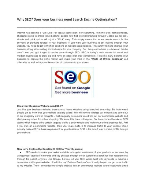 Search Engine Optimization Business by Why Seo Does Your Business Need Search Engine Optimization