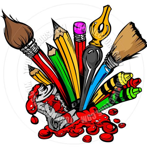 Arts And Crafts Supplies Clipart (59
