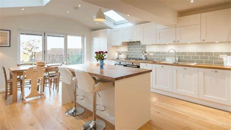 island kitchen units white shaker kitchen with wooden worktops burwash east