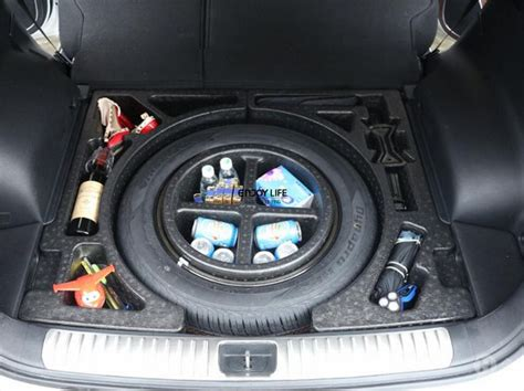 pc car rear tail trunk storage box trunk spare tire