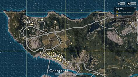 Map And All Locations In Playerunknown's Battlegrounds