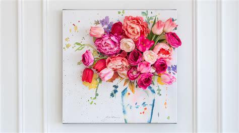 floral canvas wall art martha stewart