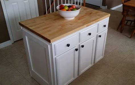 build an island from kitchen cabinets how to make a diy kitchen island and install in your 9325