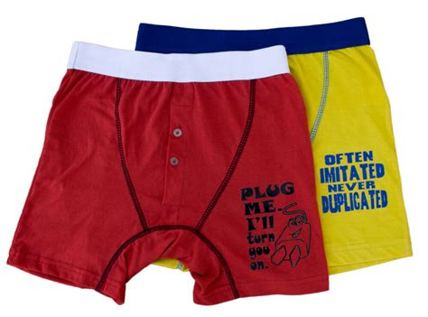 Mens 2 Pack Funny Rude Novelty Button Fly Jersey Boxers