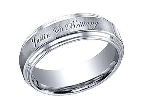 custom engraved wedding bands wedding bands personalized