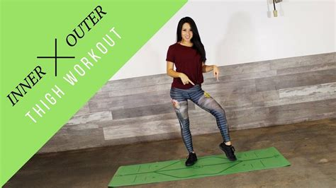 Inner and Outer Thigh Burning Leg Workout | Leg workout ...