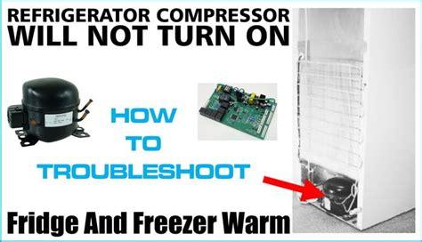 refrigerator compressor   turn  lights  fans