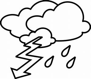 Stormy Outline Clip Art at Clker.com - vector clip art ...