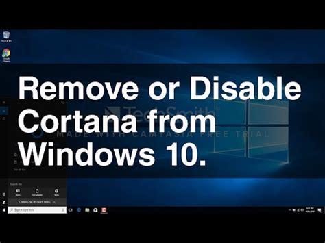 how to disable cortana windows 10 save ram easy