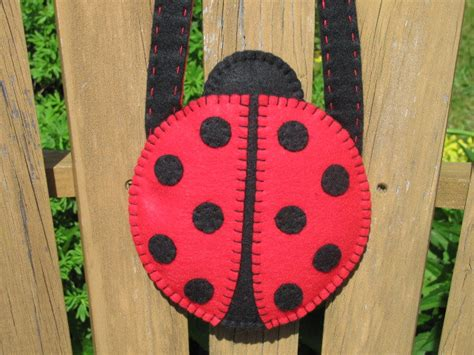 girls ladybug purse pattern felt purse pattern ladybug