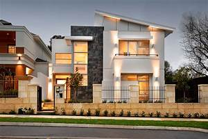 shed roof modern house exterior contemporary with neutral With exterior house lighting australia